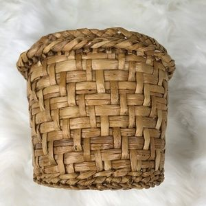 Vintage Woven Wicker Medium Plant Pot Cover Decor
